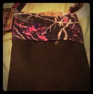 Pink Camo Ladie's Crossbody Bag